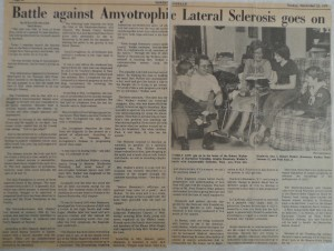 ALS - NJ Herald Article pic