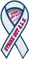 Strike Out ALS Baseball Ribbon